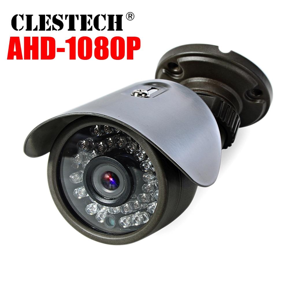 Véritable Mini caméra de vidéosurveillance AHD 720 P/960 P/1080 P IMX323 HD numérique 2.0MP IR-CUT étanche IP66 extérieur 36led infrarouge Vidicon