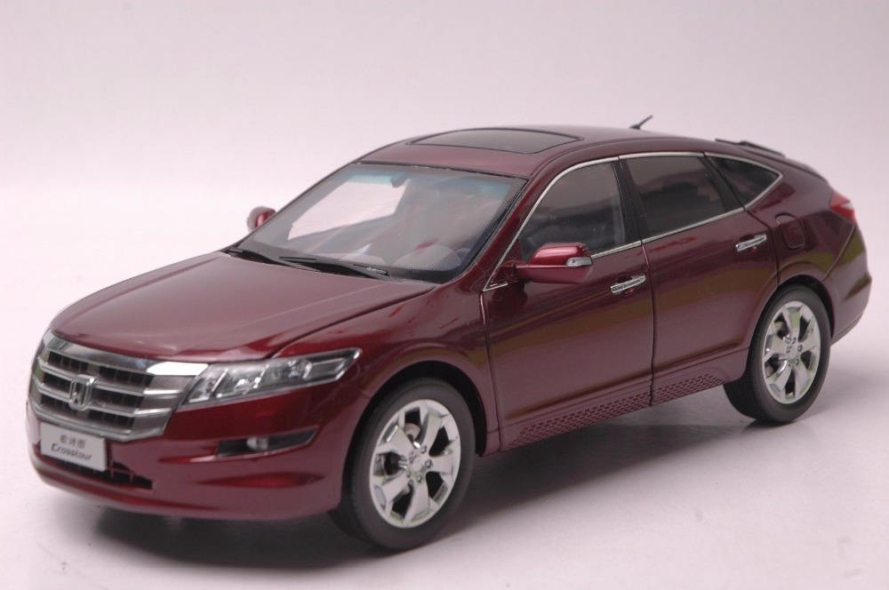 1:18 Diecast Model for Honda Crosstour 2011 Red Sportback Alloy Toy Car Miniature Collection Gifts new red1 18 honda crider 2015 diecast model car alloy toy with cristiano ronaldo signature panel included page 5 page 5
