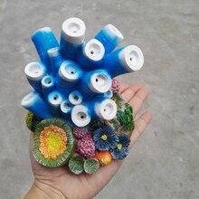 Пузыри для аквариума орнамент синяя трубка Коралл 13*13*14,5 см аквариум из смолы украшения полипит риф
