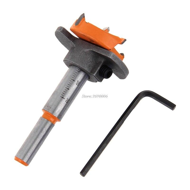 1 Set Woodworking Drill Bit 35mm Cemented Carbide Cutter Wood Drilling font b Power b font