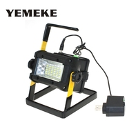 High Power Outdoor LED Flood Lights Rechargeable 36 LED Floodlight Camping Work Lamp IP65 No include 4*18650 Battery