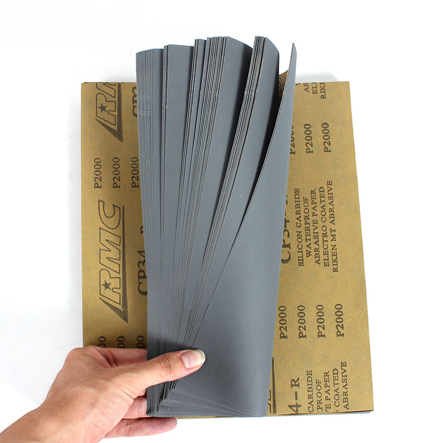RMC CP34 Sandpaper Waterproof Sand Paper 2000 Grit  A 5 Sheets  9
