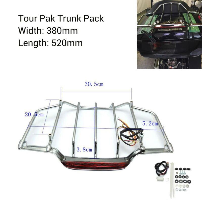 Хром светодиодные воздушные крылья багажник камера кронштейн для Harley Тур-Пак багажник пакет Электра улица скользить