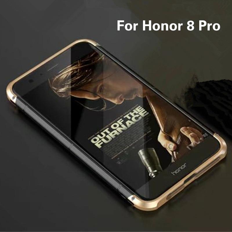 imágenes para Lujo Original de la Marca BOBYT Marco Del Metal de Aluminio + PC Duro armadura Anti-knock Back Casos de la Cubierta Para Huawei Honor 8 Pro caso