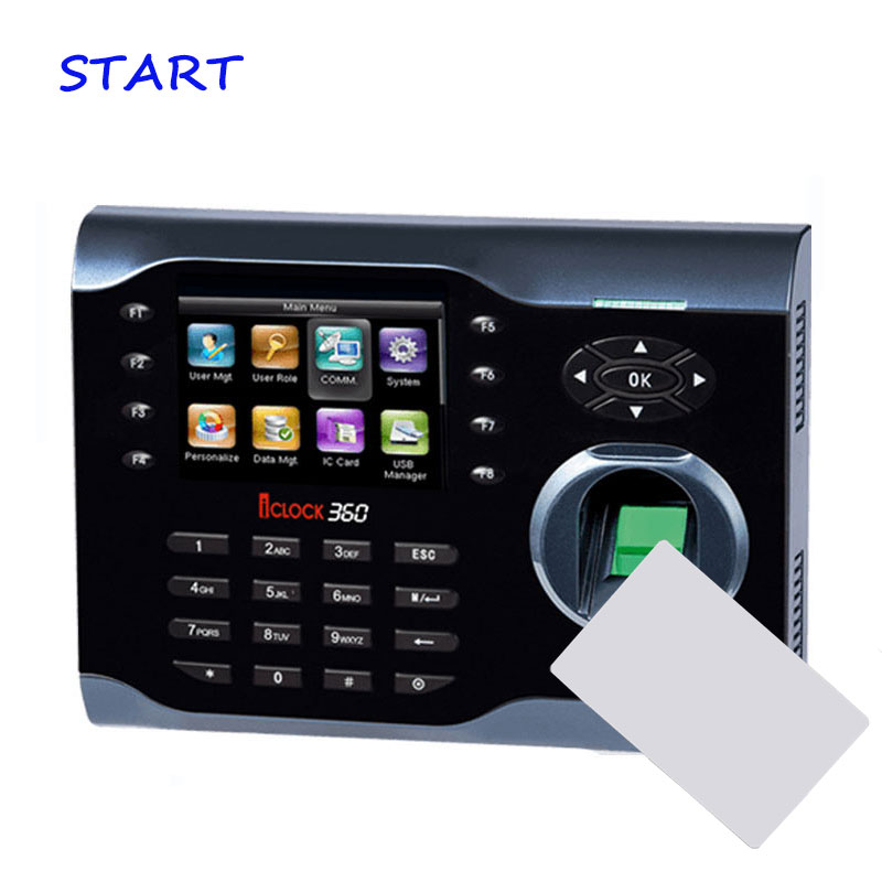 ZK ICLOCK360 TCP/IP Biometric Fingerprint Time Attendance With 13.56Khz Card Reader Fingerprint Time Recorder Time Clock