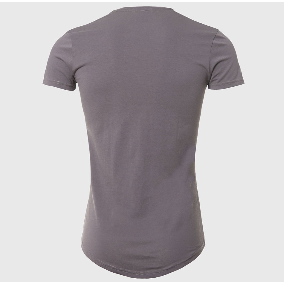21 Colors Deep V Neck T-Shirt Men Fashion Compression Short Sleeve T Shirt Male Muscle Fitness Tight Summer Top Tees 10