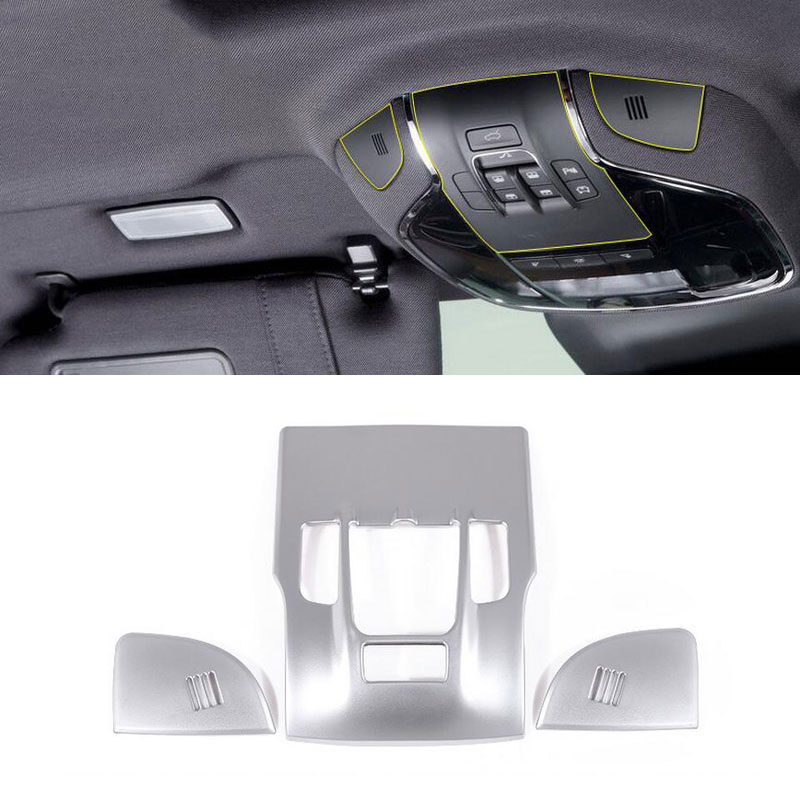 ABS Chrome Front Reading Light Lamp Cover Trim Stickers Accessory For Maserati Levante Quattroporte 2017 Car Styling Set of 3pcs-in Interior Mouldings from Automobiles & Motorcycles    1