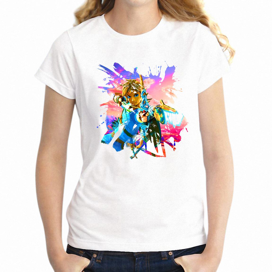 T-shirt Zelda Breath of The Wild Link Battle