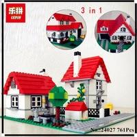 In Stock Lepin 24027 761Pcs Building Series American Style House Set Children Educational Building Blocks Brick