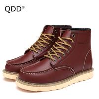 QDD Winter Collection Classic Trendy Outdoor Hiking Shoes Warm Keeping Cashmere Inside Durable High Quality Trekking