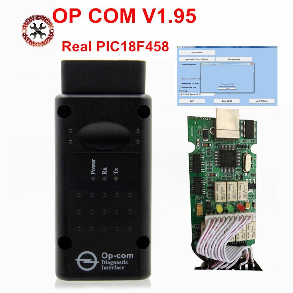 Pic18f458 real op com v1.59 v1.95 v1.99 fw OP-COM pic18f458 chip v1.59 v1.95 fw para opel com opcom obd2 scanner ferramenta de diagnóstico