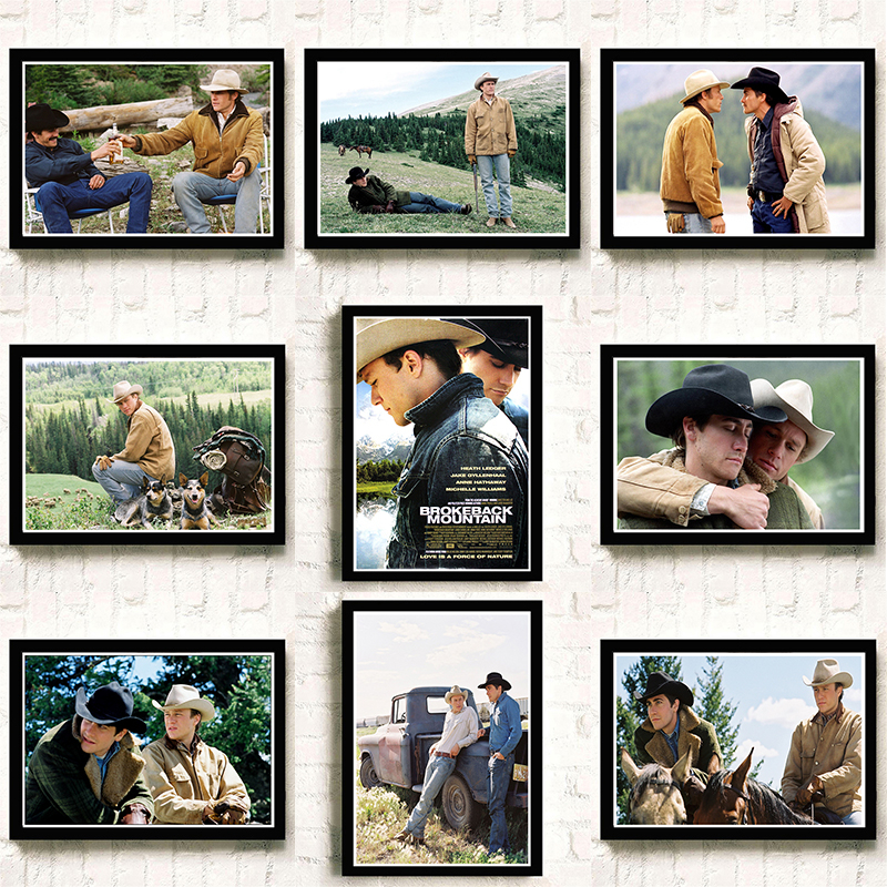 Brokeback Mountain Posters White Kraft Paper Prints Wall Stickers Home Decoration Modern Style Art Brand A3
