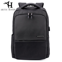ARCTIC HUNTER New Business Men Oxford Cloth Laptop Backpack External USB Charge Computer Backpacks Waterproof Bags
