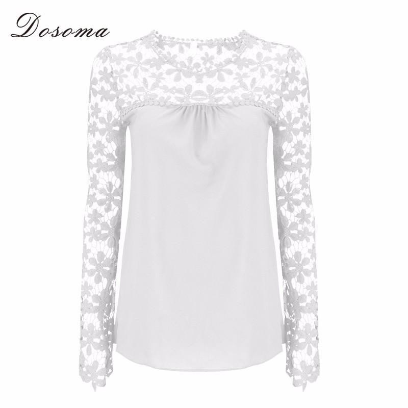 HTB1tPb.KpXXXXavXFXXq6xXFXXXW - Autumn Elegant Women White Lace Blouses Floral