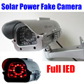 New Solar Powered battery Outdoor Indoor CCTV Security Fake Dummy Camera Flashing IR LEDS Lights free shipping