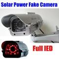 Nova bateria Movido a energia solar Ao Ar Livre Indoor CCTV Segurança Falso Manequim Câmera Piscando Luzes LEDS IR frete grátis