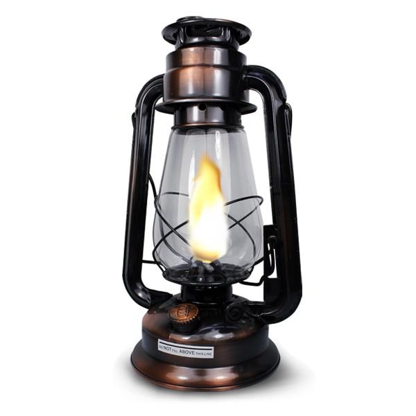 Old Fashioned Kerosene Lamp Vintage Hanging Outdoor Camping Light Tent Lantern Portable