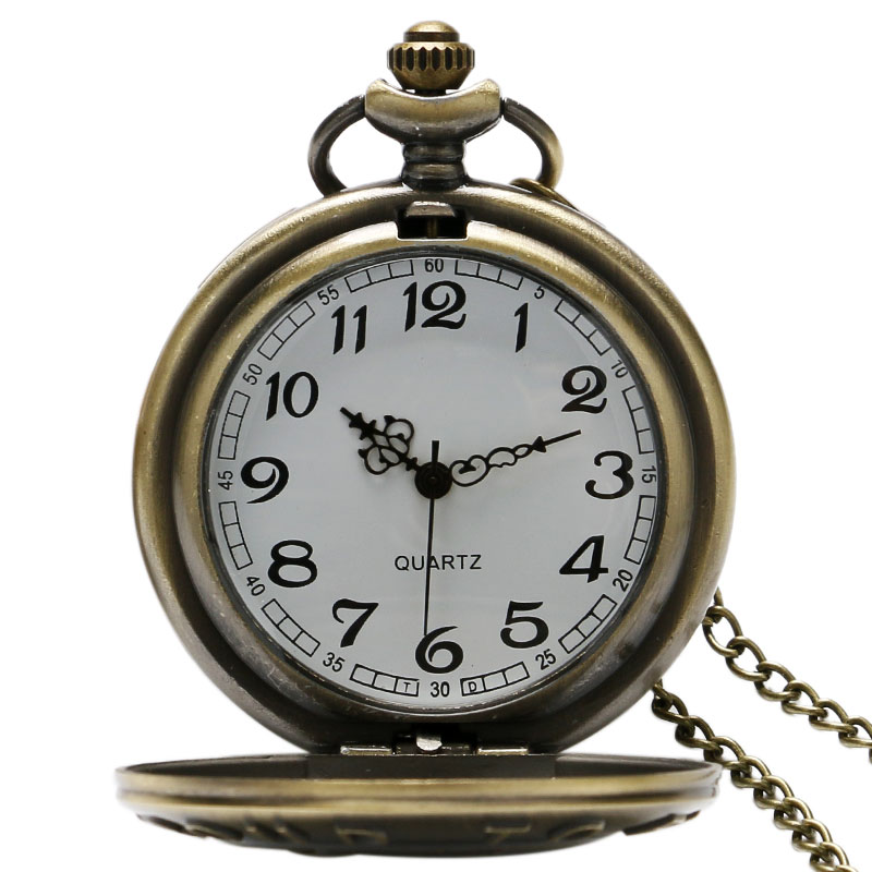 Retro PROUD TO BE A FARMER Pocket Watch Bronze Steampunk Quartz Fob Watches For Men Boy Gift With Chain