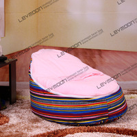 FREE SHIPPING Bean Bag Chair With 2pcs Bright Pink Up Cover Baby Bean Bag Cover Bean