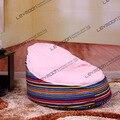 FRETE GRÁTIS saco de feijão cadeira com 2 pcs rosa brilhante para cima da tampa tampa do saco de feijão do saco de feijão do bebê assento infantil saco de feijão móveis