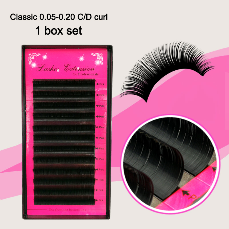 Silk Individual 3D Eyelashes, Fake False Mink Eye Strash Extensions Alat solek, volume bulu lembut semulajadi CD Curl 8-15mm