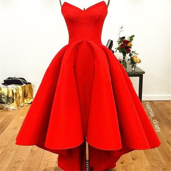 Sexy Red Evening Dresses 2020 Elegant Satin Evening Gowns Long Formal Evening Dress Abiye Prom Party Dresses vestido longo festa verngo 2019 sexy mermaid evening dress lace evening dresses long strapless formal dress vestido longo festa