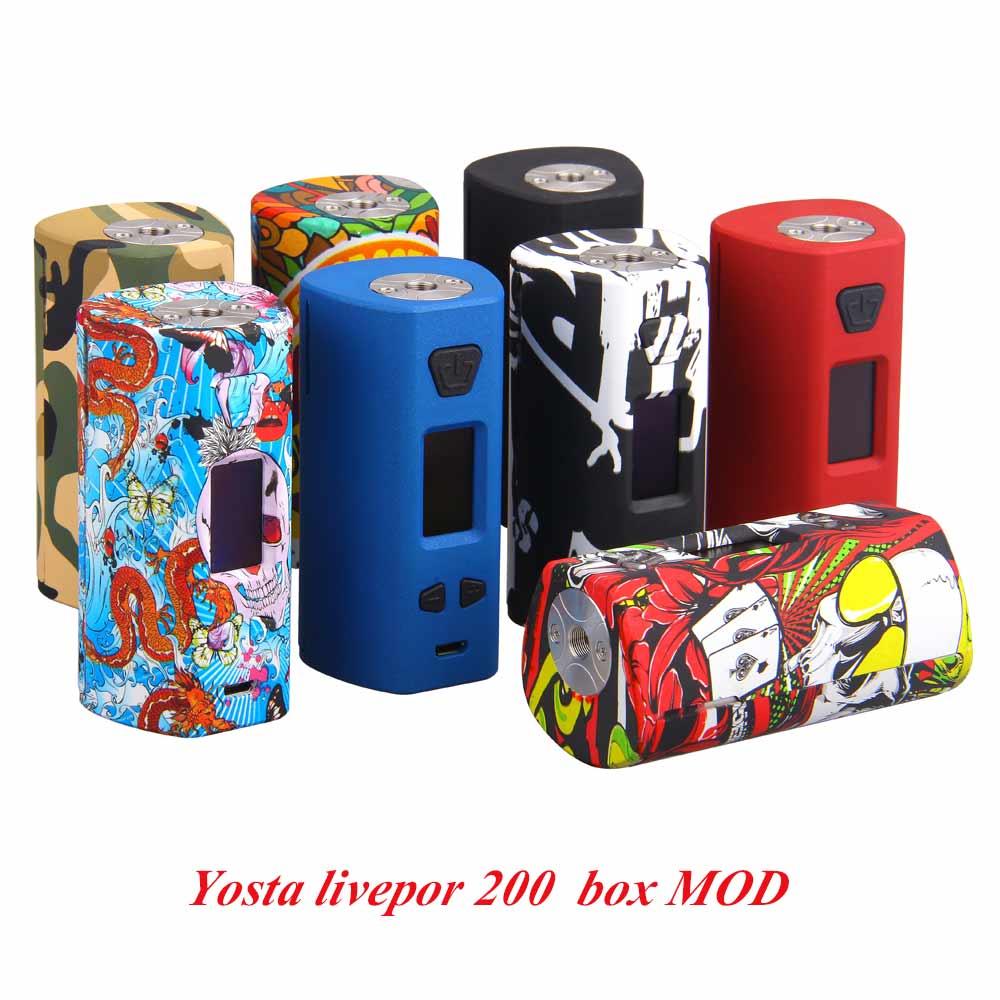 Date e-cig Yosta livepor 200 w Boîte Mod TC Vaporisateur 6 Modes Vaporisateur Mod Par Double 18650 Batterie fit 510 E Cigarette Atomiseur