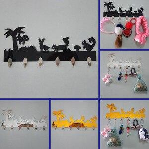 Современные акриловые крючки, настенные наклейки на дверь, декоративная домашняя вешалка на крючок для домохозяйки, кухонные аксессуары, х...