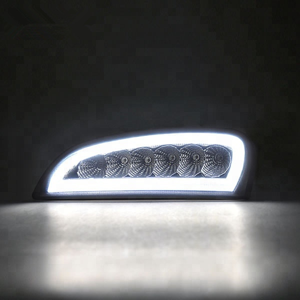 <font><b>E4</b></font> approved For Cayenne 2006-2010 2007 2008 2009 Clear Smoke lens Amber White LED DRL Turn Signal position Lights <font><b>Lamp</b></font> image