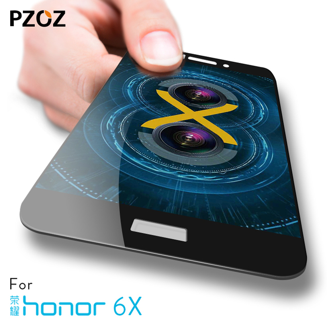 pzoz huawei honor 7x glass tempered full cover prime screen protector honor...