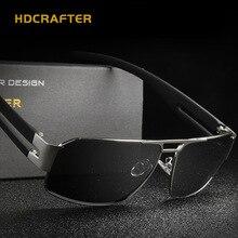 HDCRAFTER Square Polarized mens sunglasses brand designer retro Vintage Eyewear Accessories driving Sun Glasses For Men shades