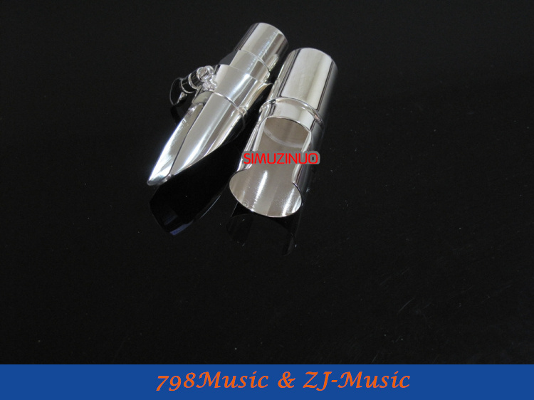 ФОТО G1 Model 7#-Professional Metal Soprano Saxophone Mouthpiece Silver Plated