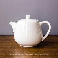 3 Größe 450 ml/700 ml/900 ml Weiße Keramikkaffeekanne Kreative Keramik Kaffeekanne Bone China das Restaurant Home Täglichen Teekanne-in Teekannen aus Heim und Garten bei