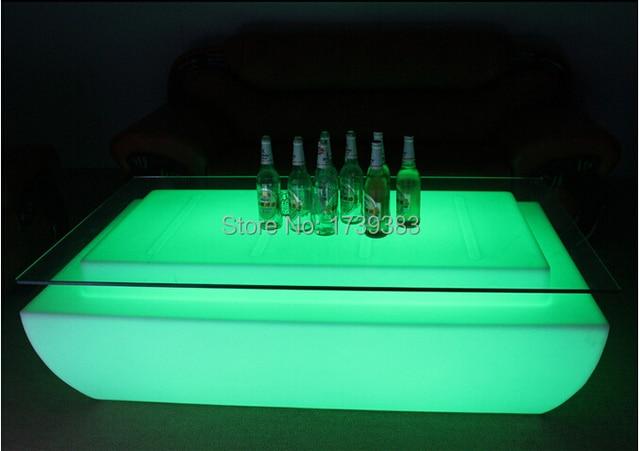 Fernbedienung Led Licht Tisch Wohnzimmer Mbel Luxus Hotel KTV Bar Tische Quadrat Couchtisch