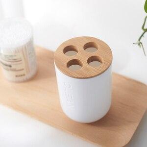 Image 5 - Mydło bambusowe danie dozownik do mydła uchwyt na szczoteczki do zębów mydelniczka akcesoria łazienkowe