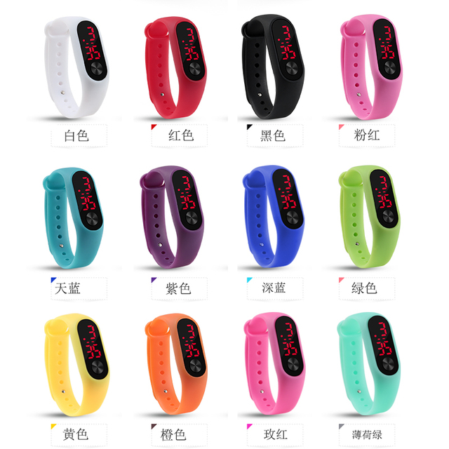 Fashion Men Led Digital Watch Women Casual Yoga Silicone Sports Wristwatch Children Kids Watches Outdoor Bracelet Watches Clock