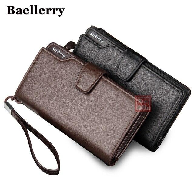 Men Wallets Top Quality Male Clutch Big Capacity Cellphone Bag Leather wallet men purse Zipper Pocket Man Purse Long Baellerry
