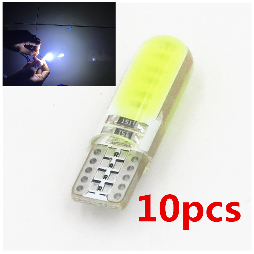 все цены на T10 W5W Silicone Case COB LED Car Wedge Interior Light WY5W 194 501 Auto Parking Trunk Bulbs Turn Side Lamps Canbus Error Free онлайн