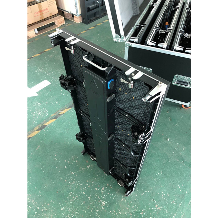 Outdoor P3.91 500x1000mm Die Cast Aluminum Cabinet Rgb SMD1921 Led Display Screen For Rental Advertising Video Wall Panel