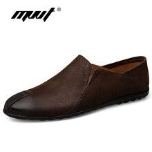 MVVT Genuine Leather Men Shoes Black Super Comfortable Casual Shoes Men Slip On Loafers Men Flats Shoes Plus Size Moccasins Shoe