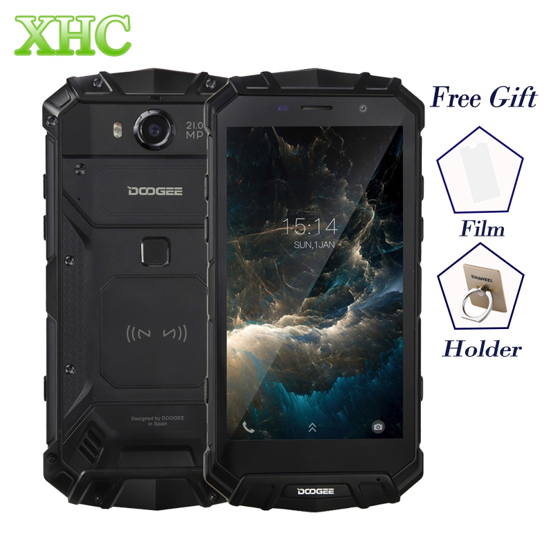 IP68 DOOGEE S60 Wireless Charge 5580mAh Mobile Phone Helio P25 Octa Core 1920 1080 FHD font