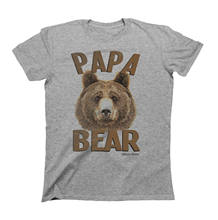 PAPA BEAR Fathers T-Shirt Gift For Dad Birthday Fathers Day Christmas Daddy(China)
