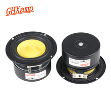 GHXAMP 3 INCH 4OHM 25W Midrange Woofer Bass Speakers Glass Fiber For Home Theater PC Desktop Bluetooth Protable Audio 2pcs
