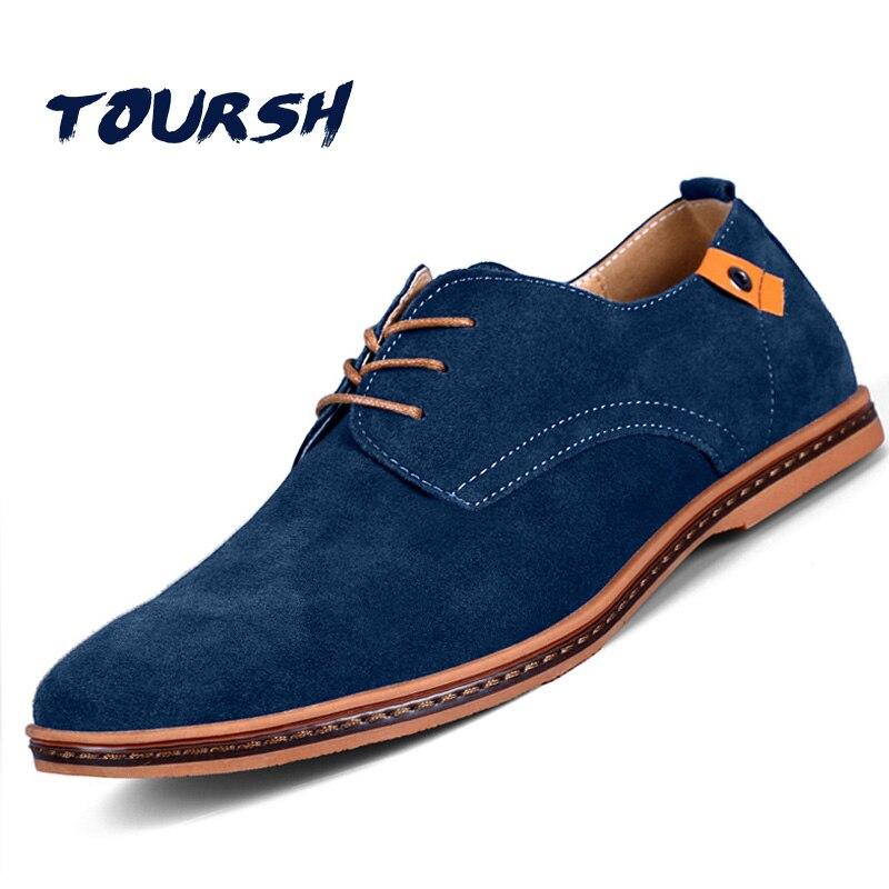 Zapatos TOURSH para hombre, zapatos casuales de cuero para hombre, Tenis Masculino, Adulto, Krasovki, zapatos casuales de gamuza para hombres, zapatos Casuales