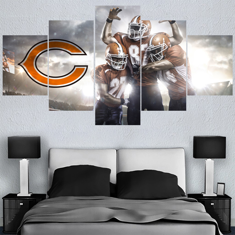 Rugby Ball Logo Paintings Chicago Bears Modern Home Decor Living Room Bedroom Wall Art Canvas Print Painting Calligraphy In From
