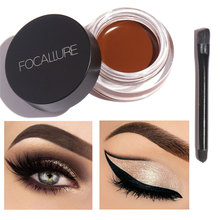 FOCALLURE Brand Comestic Waterproof Eye Liner Gel Makeup Long Lasting Liquid Eyeliner Cream Eyeliner Makeup Set + Black Brush