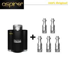 100% Original Aspire Proteus E-hookah E Cigarettes Kit + 5 Coils fit 18650 Hookah Vaporizer 10ml Tank Aspire Proteus MOD Box Kit