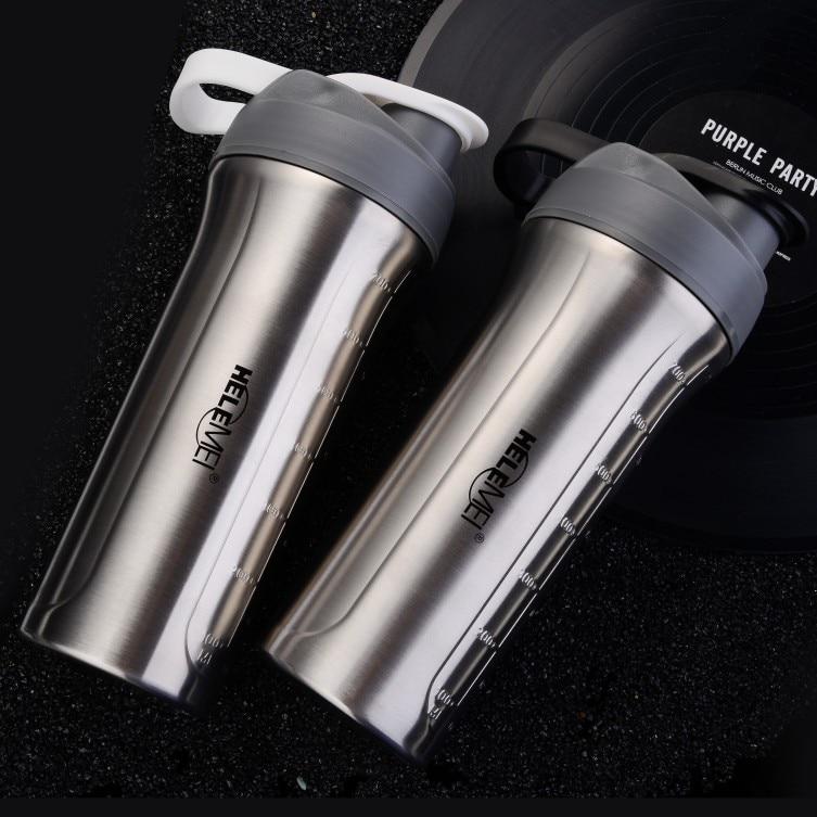 700ml 304 Stainless steel protein powder shaker blender water bottle fitness home office dinkware tool