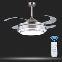 simple modern LED Ceiling fan LED lamsp light invisible fan lamp dining room bedroom home with ceiling FS17