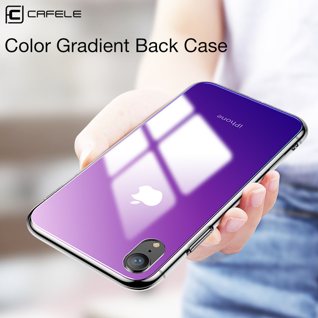 competitive price fa923 40866 US $4.99 40% OFF CAFELE Gradient Glass Case for iphone X Xr Xs Max TPU edge  glass Back Protect Skin Ultra Thin Phone Cover for iphone X Xr Xs Max-in ...